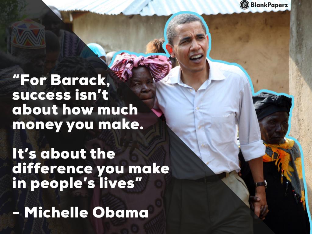 Obama as a successful man