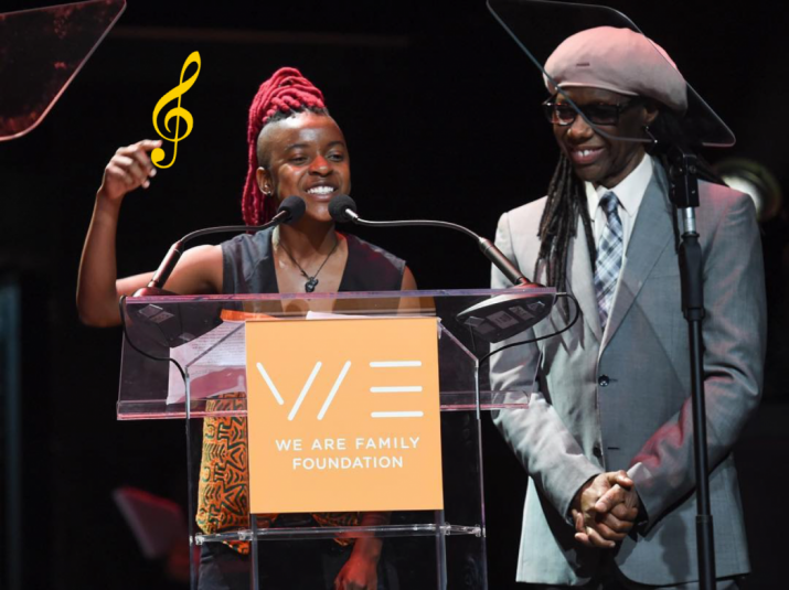 Ellen Chilemba and Nile Rogers at We Are Family Foundation