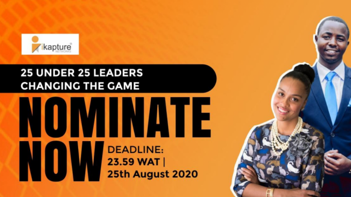 Call for nominations: iKapture 25 Under 25 Award for Leaders Changing the Game!